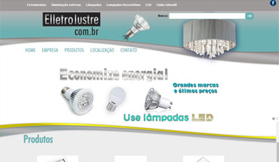 Eletrolustre - Tudo para Iluminação - Lãmpadas LED - Fitas de LED - Luminárias em Geral